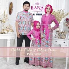 Busa Muslim Sarimbit Terbaru Edisi Lebaran Andika & Adine by Airia Pink Fanta