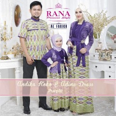 Busa Muslim Sarimbit Terbaru Edisi Lebaran Andika & Adine by Airia Purple