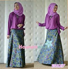 Busana Muslim Setelan Atas Bawah Zara by Hawwaaiwa Violet