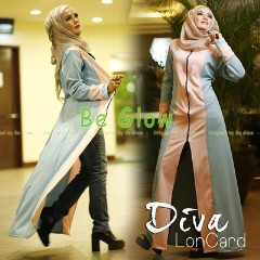 Busana Muslim Terbaru Diva by Be Glow Baby Blue - Pink