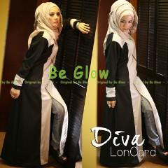 Busana Muslim Terbaru Diva by Be Glow Hitam - Pink