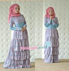 Busana Muslim Terbaru Fringe by Hawwaaiwa Biru - Brokat Lavender