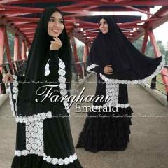 Busana Muslim Wanita Modern Emerald by Farghani Hitam