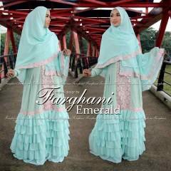 Busana Muslim Wanita Modern Emerald by Farghani Mint
