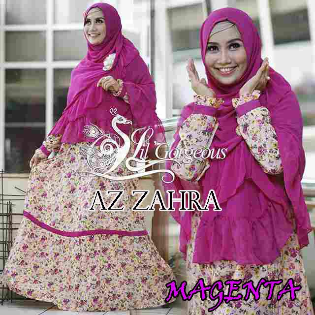 Busana MuslimTerbaru Az Zahra Syar'i by Lil Gorgeous Magenta