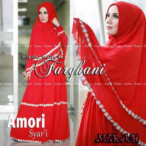 Grosir Busana Muslim Amori by Farghani Merah