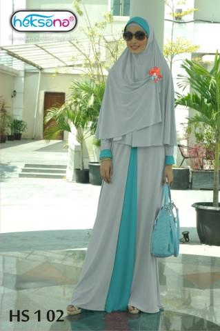 Grosir Busana Muslim HS 1-02 by Heksana