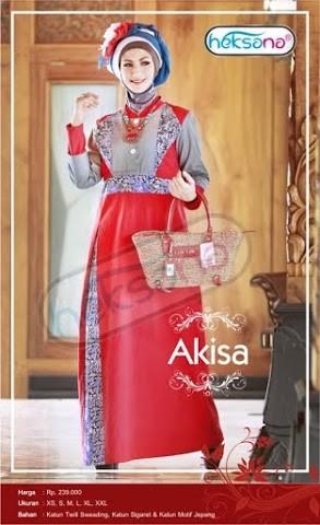 Grosir Busana Muslim Modern Akisa by Heksana