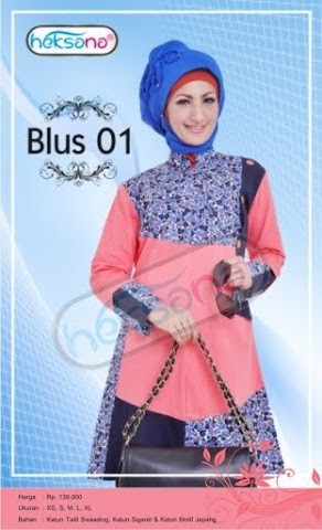 Grosir Busana Muslim Modern Blus Orange by Heksana