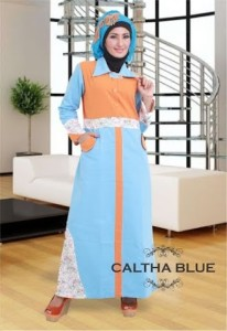 Grosir Busana Muslim Modern Caltha Blue by Heksana