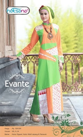 Grosir Busana Muslim Modern Evante by Heksana