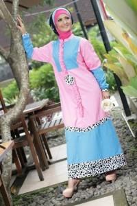 Grosir Busana Muslim Modern Gloris Pink by Heksana