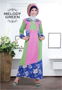 Grosir Busana Muslim Modern Melody Green by Heksana