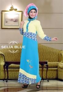 Grosir Busana Muslim Modern Selia Blue by Heksana