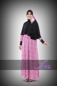 Grosir Busana Muslim Syar'i RaneeA by Aza Dusty Pink