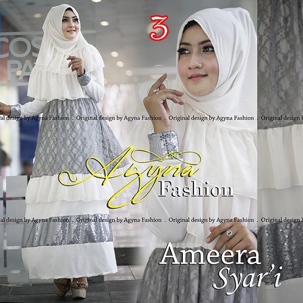 Grosir Busana Muslim Terbaru Ameera Syar'i by Agyna 3