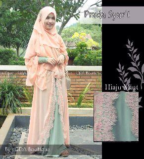 Koleksi Baju Muslim Terbaru Syahla by GDA Hijau Mint