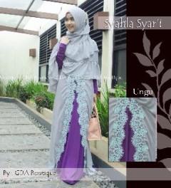 Koleksi Baju Muslim Terbaru Syahla by GDA Ungu
