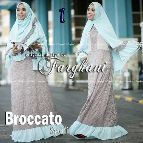 Broccato Syar I 1 Baju Muslim Gamis Modern