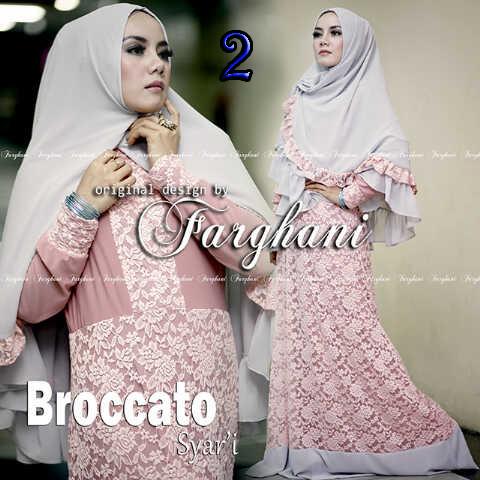 Koleksi Busana Muslim Syar'i Broccato Syar'i by Farghani 2