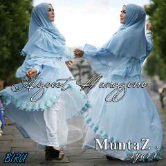 Koleksi Busana Muslim Syar'i Wanita Indonesia Muntaz by Agoes Hanggono Biru