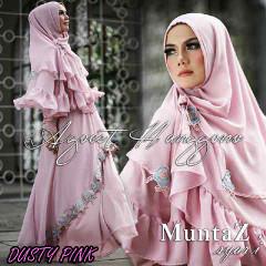 Koleksi Busana Muslim Syar'i Wanita Indonesia Muntaz by Agoes Hanggono Dusty Pink