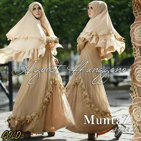 Koleksi Busana Muslim Syar'i Wanita Indonesia Muntaz by Agoes Hanggono Gold