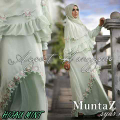Koleksi Busana Muslim Syar'i Wanita Indonesia Muntaz by Agoes Hanggono Hijau Mint