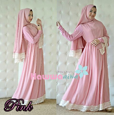 Mehla Syar I Pink Baju Muslim Gamis Modern