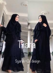 Pusat Grosir Baju Muslim Terbaru Indonesia Tiara by Syarahqu Design Hitam