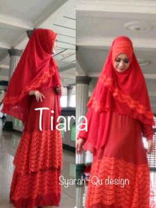 Pusat Grosir Baju Muslim Terbaru Indonesia Tiara by Syarahqu Design Merah Bata