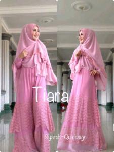 Pusat Grosir Baju Muslim Terbaru Indonesia Tiara by Syarahqu Design Pink