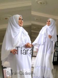 Pusat Grosir Baju Muslim Terbaru Indonesia Tiara by Syarahqu Design Putih