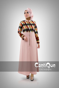 Pusat Grosir Baju Muslim Wanita CQ 1501 Cream