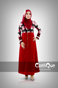Pusat Grosir Baju Muslim Wanita CQ 1501 Merah