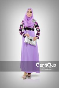 Pusat Grosir Baju Muslim Wanita CQ 1501 Purple