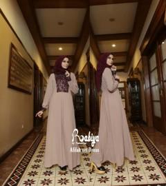 Pusat Grosir Busana Muslim Afifah set Dress by Rabiya Mocca