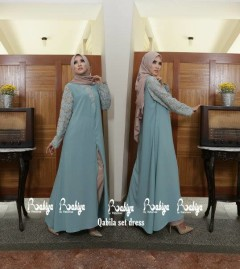 Pusat Grosir Busana Muslim Qabila set Dress by Rabiya Telur Asin