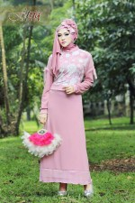 Pusat Grosir Busana Muslim Syazia by Fitria Style Baby Pink