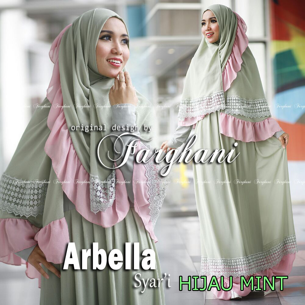 Trend Busana Muslim Syar'i Menyusui Arbella by Farghani Hijau Mint
