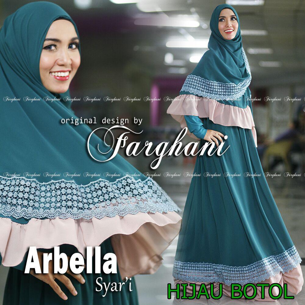 Trend Busana Muslim Syar'i Menyusui Arbella by Farghani Hijau Tosca