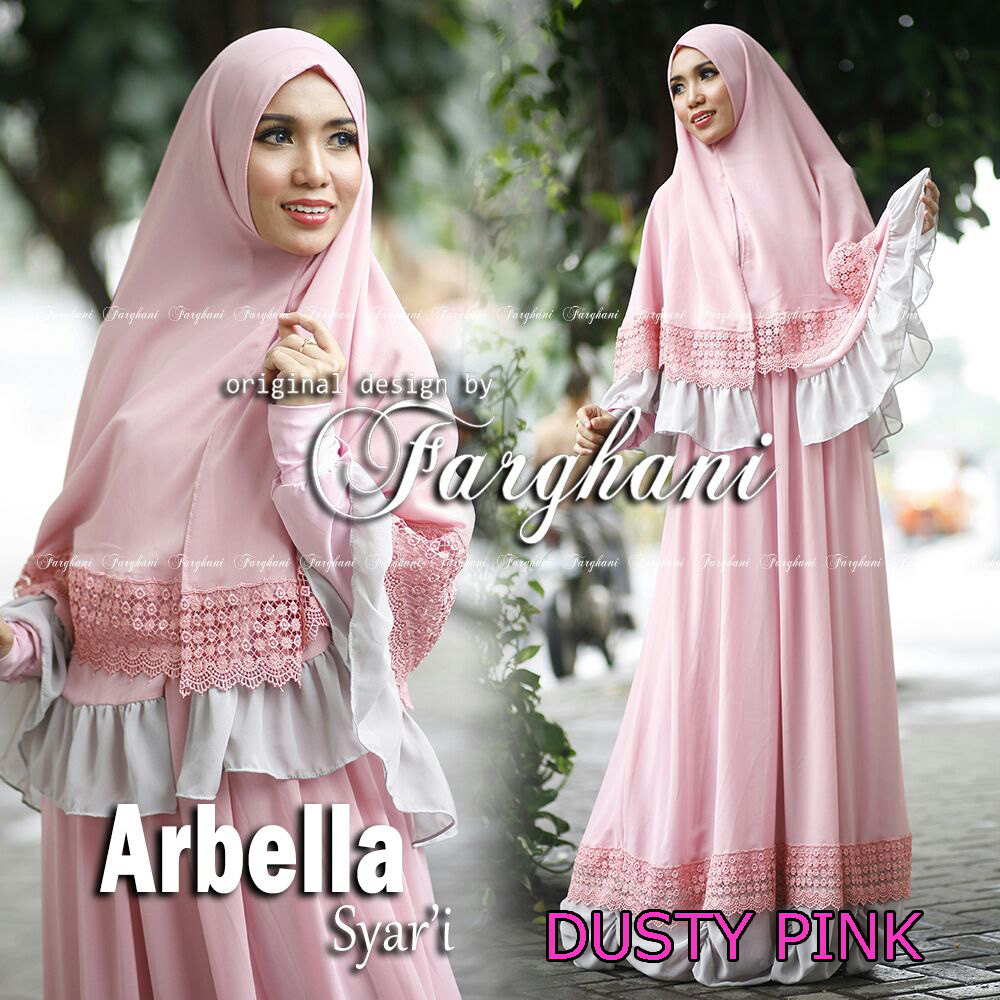 Trend Busana Muslim Syar'i Menyusui Arbella by Farghani Pink