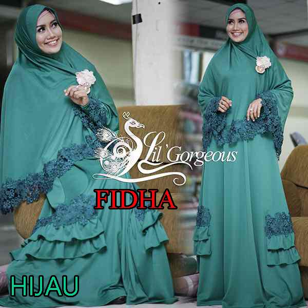 Trend Busana Muslim Wanita Syar'i Fidha by Lil Gorgeouse Hijau