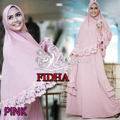 Trend Busana Muslim Wanita Syar'i Fidha by Lil Gorgeouse Pink