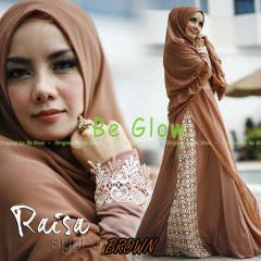 Trend Busana Muslim Wanita Terbaru Raisa Syar'i by Be Glow Brown