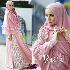 Trend Busana Muslim Wanita Terbaru Raisa Syar'i by Be Glow Pink