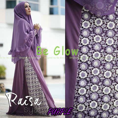 Trend Busana Muslim Wanita Terbaru Raisa Syar'i by Be Glow Purple