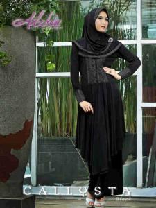 Trend Terbaru Busana Muslim Wanita Callysta by Adzkia Black