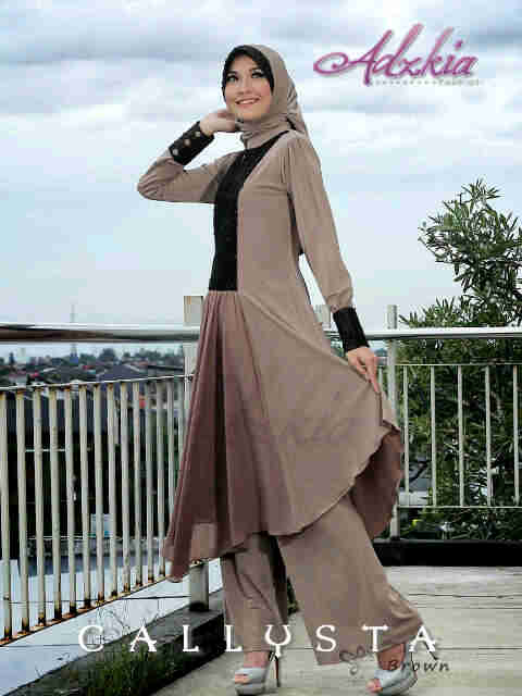 Trend Terbaru Busana Muslim Wanita Callysta by Adzkia Brown