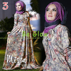 Trend Terbaru Busana Muslim Wanita Misca Dress by Be Glow 3